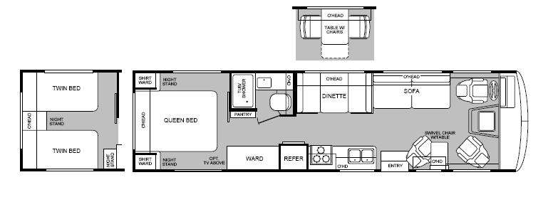 Used 1995 Fleetwood Rv Bounder 32 Motor Home Class A At General Rhgeneralrv: Fleetwood Bounder Motorhome Floor Plans At Gmaili.net