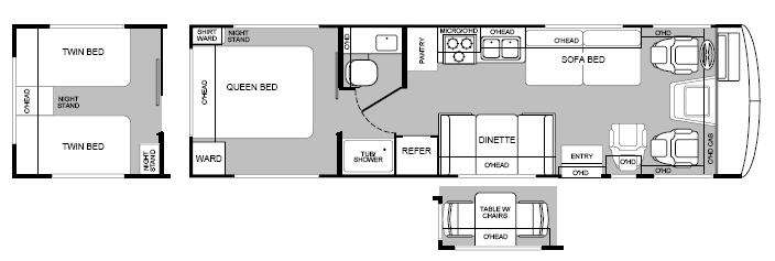 General Manufactured Housing Floor Plans: Used 2000 Fleetwood RV Bounder 31M Motor Home Class A At