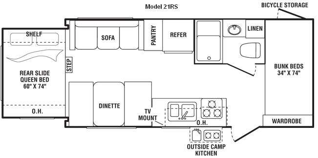 Floorplan - 2009 Keystone RV Outback 21RS