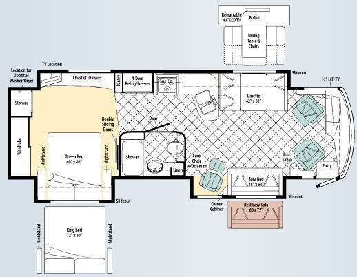 Floorplan - 2010 Winnebago Journey Express 34Y