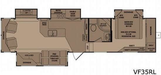 Floorplan - 2010 CrossRoads RV Seville VF35RL