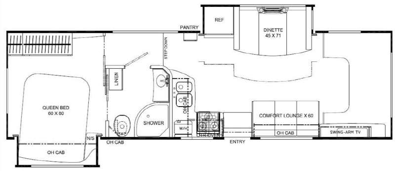 Floorplan - 2010 Coachmen RV Leprechaun 318DS