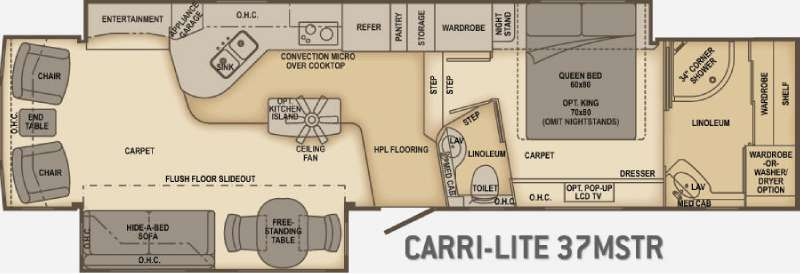 Floorplan - 2010 Carriage Carri-Lite 37MSTR