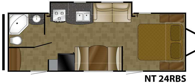 Floorplan - 2011 Heartland North Trail 24RBS