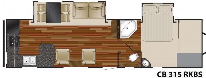 Floorplan - 2011 Heartland Caliber 315 RKBS