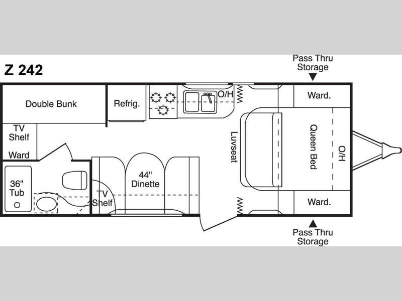 100 Travel Trailer Bunkhouse Floor Plans 2018