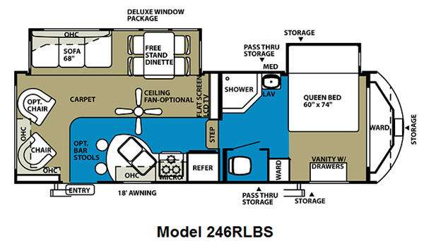 Floorplan - 2011 Forest River RV Wildwood Heritage Glen 246RLBS