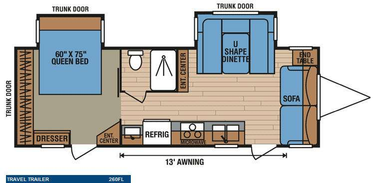 Floorplan - 2011 KZ Spree 260FL