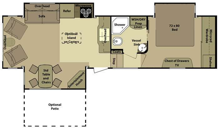 Floorplan - 2011 Open Range RV 345RLS