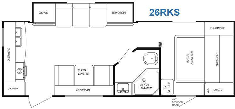Floorplan - 2011 Gulf Stream RV Streamlite 26RKS