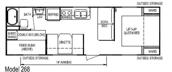 Floorplan - 2011 Skyline Nomad Joey Select 268