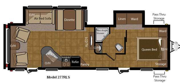 Floorplan - 2011 Keystone RV Sprinter 277RLS