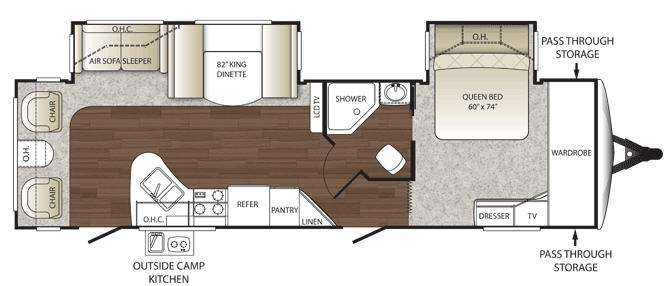 Floorplan - 2011 Keystone RV Outback 277RL