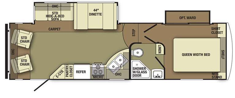Floorplan - 2012 Yellowstone RV Canyon Trail XLT 27FREL