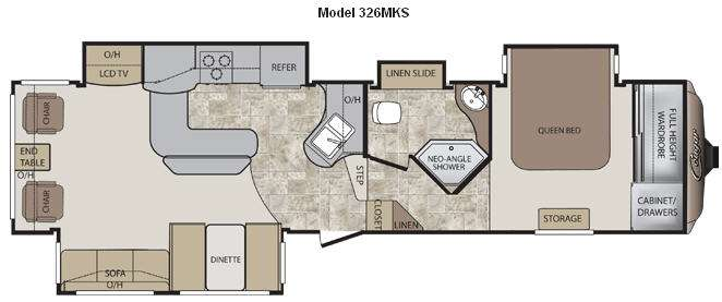 Floorplan - 2012 Keystone RV Cougar 326MKS