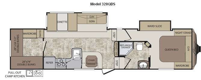 Used 2012 Keystone RV Cougar 328QBS Fifth Wheel At Campers
