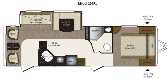 Floorplan - 2012 Keystone RV Laredo Super Lite 297RL