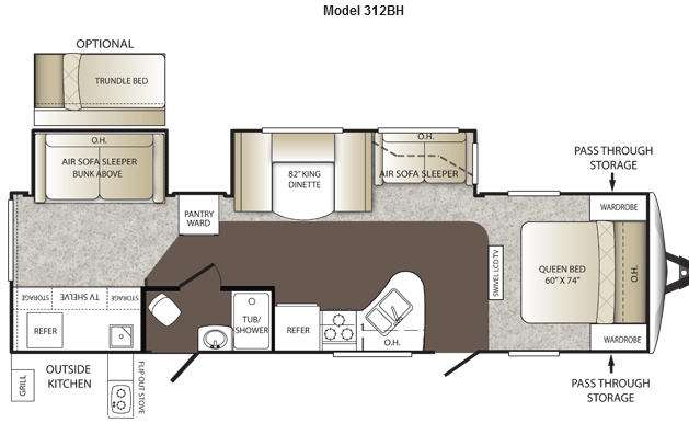 Floorplan - 2012 Keystone RV Outback 312BH