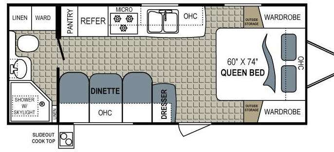 Floorplan - 2012 Dutchmen RV Aerolite 195QB
