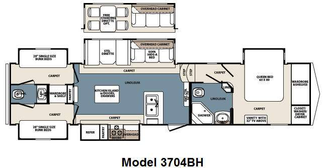5th Wheel Bunkhouse Floor Plans Carpet Vidalondon