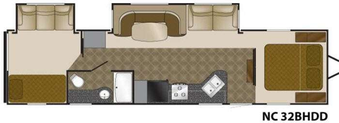 Floorplan - 2012 Heartland North Country 32BHDD