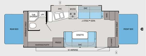 Floorplan - 2012 Jayco Jay Feather Ultra Lite X23J