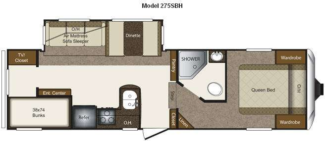 Floorplan - 2012 Keystone RV Laredo Super Lite 275SBH
