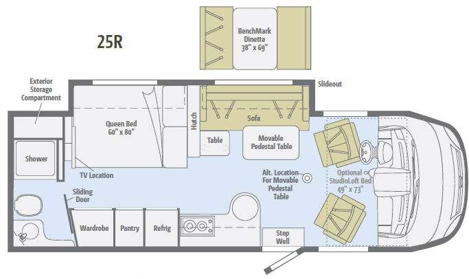 Floorplan - 2012 Winnebago Via 25R