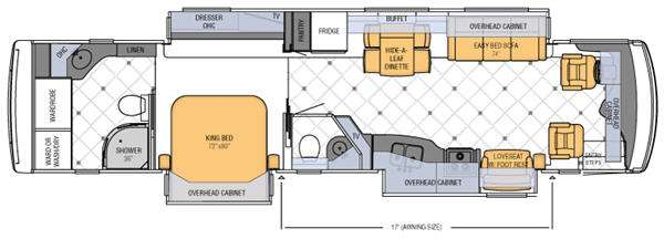 Floorplan - 2012 Newmar Dutch Star 4062