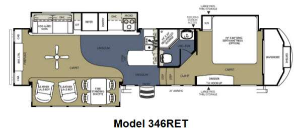 Floorplan - 2012 Forest River RV Sierra 346RET