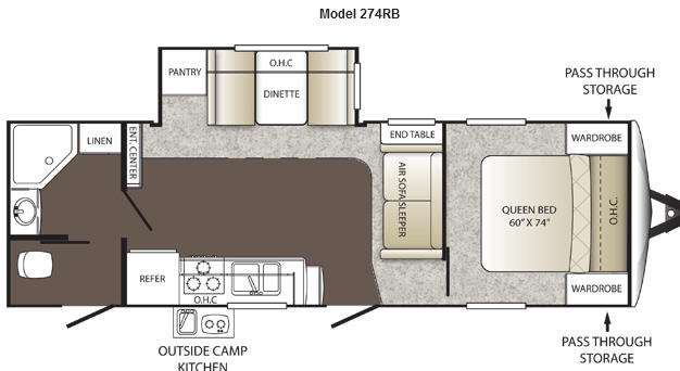 Floorplan - 2012 Keystone RV Outback 274RB
