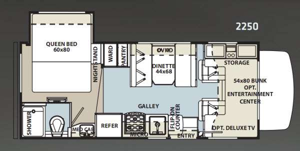 Floorplan - 2012 Forest River RV Sunseeker 2250 Chevy