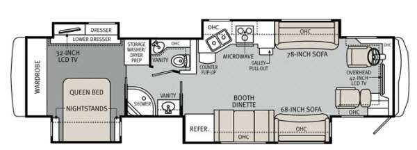 Floorplan - 2012 Monaco Knight 40 PDQ