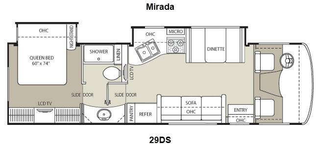 Used 2013 coachmen rv mirada 29ds motor home class a at for Best slide in gas range under 2000