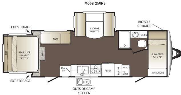 Floorplan - 2013 Keystone RV Outback 250RS