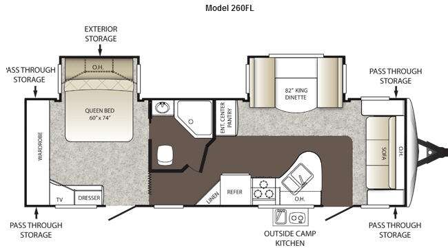 Floorplan - 2013 Keystone RV Outback 260FL