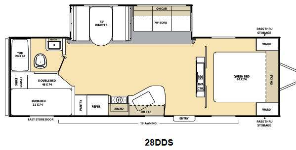 Floorplan - 2013 Coachmen RV Catalina Deluxe Edition 28DDS