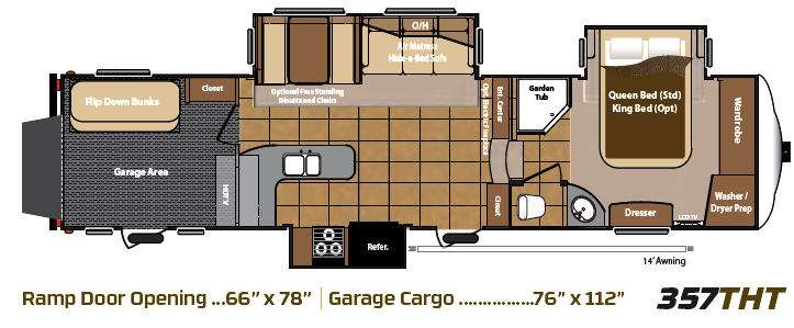 Floorplan - 2013 Keystone RV Mountaineer 357THT