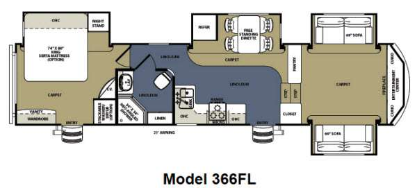 Floorplan - 2013 Forest River RV Sierra 366FL