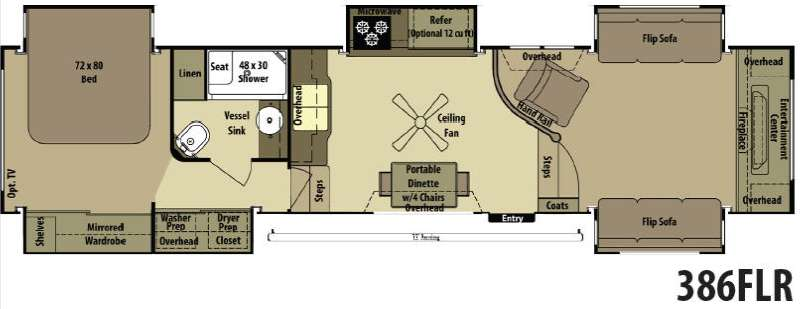 Open Range Rv 386flr Next Floorplan Le