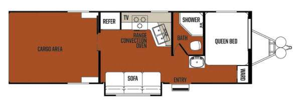 Floorplan - 2013 Forest River RV Work and Play Ultra Lite 27ULPS