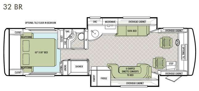 Floorplan - 2013 Tiffin Motorhomes Allegro Breeze 32 BR