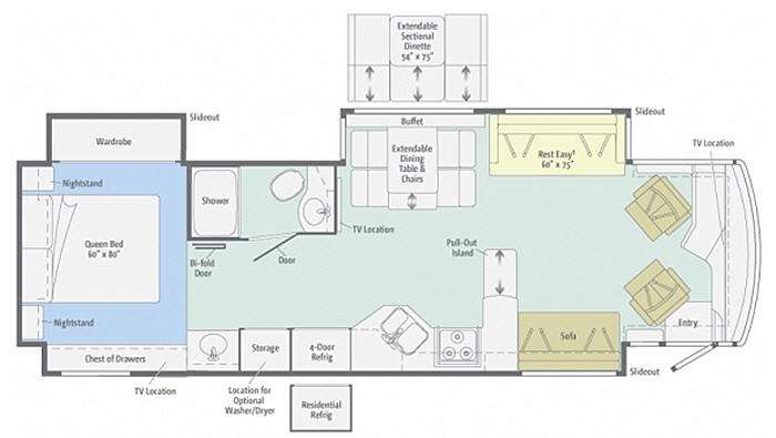 Floorplan - 2013 Winnebago Journey 36M