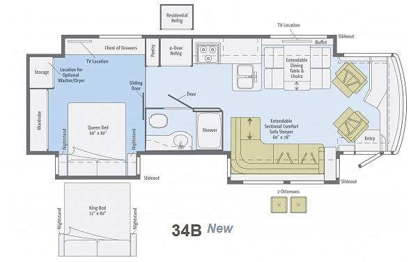 Floorplan - 2013 Winnebago Journey 34B