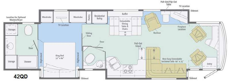 Floorplan - 2013 Itasca Ellipse 42QD