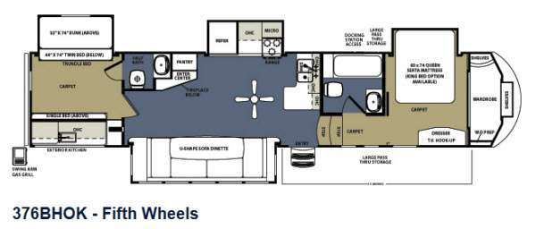 Used 2013 Forest River Rv Sierra 376bhok Fifth Wheel At
