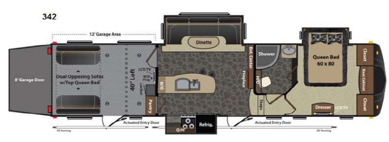 Floorplan - 2013 Keystone RV Fuzion 342