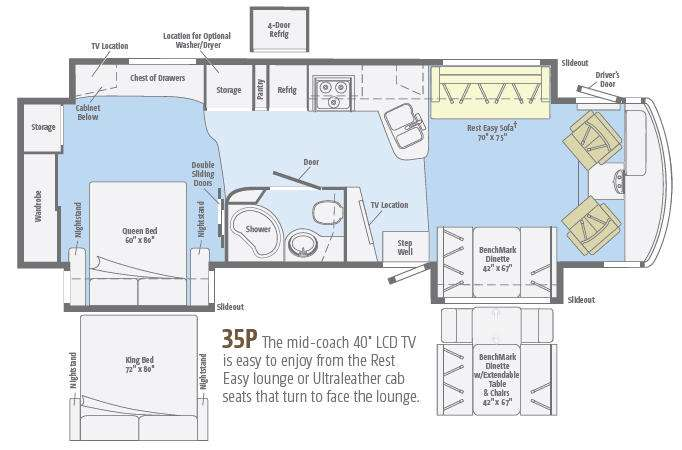 Floorplan - 2014 Winnebago Adventurer 35P