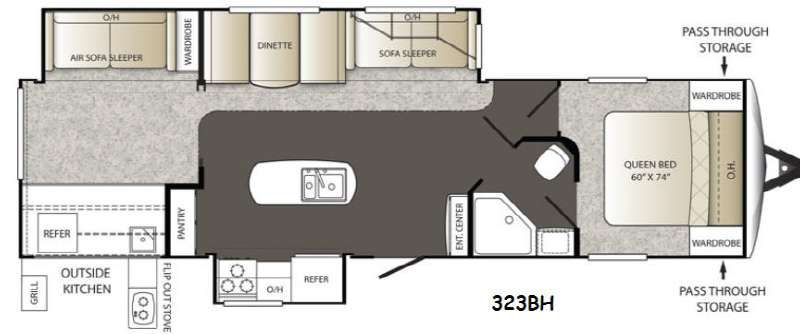 Floorplan - 2014 Keystone RV Outback 323BH