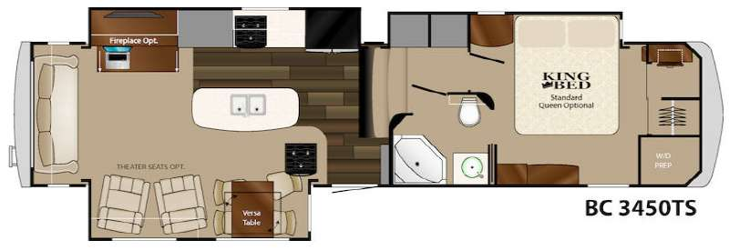 Floorplan - 2014 Heartland Big Country 3450 TS